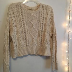 Ralph Lauren Chunky Knit Cropped Sweater